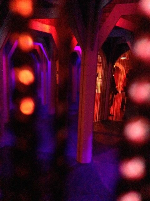 Santa's grotto arrival maze