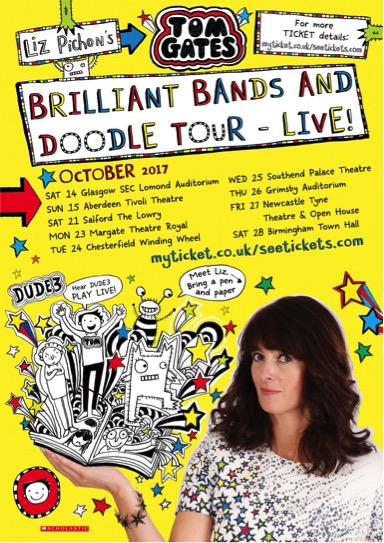 LIZ PICHON'S TOM GATES BRILLIANT BANDS AND DOODLE LIVE TOUR