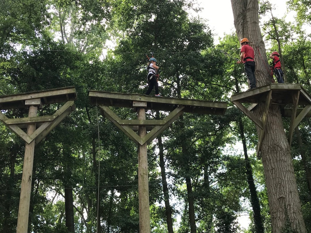 kong high ropes in the trees