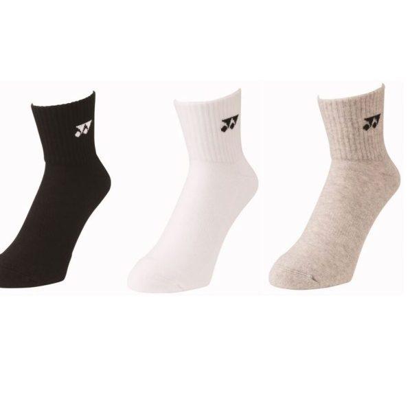 Yonex 3pak sokken halfhoog wit/grijs/zwart - maat 43-47