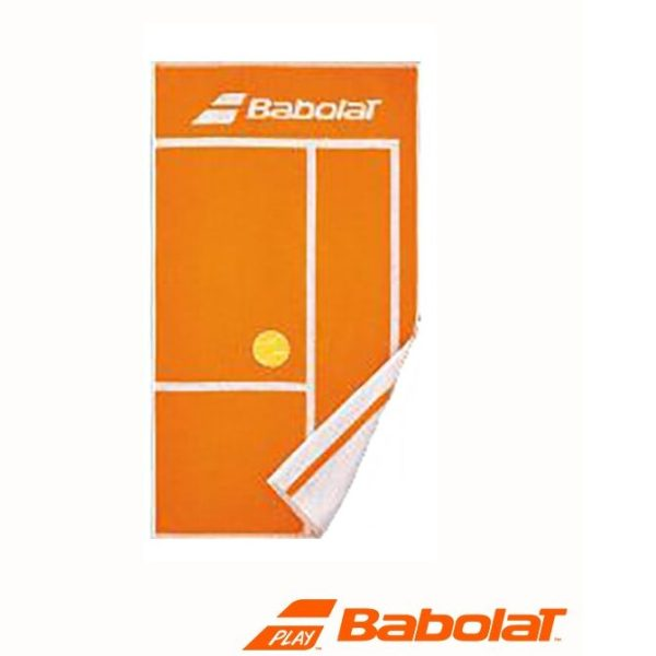 Babolat sport handdoek - wit/rood - 100x50cm