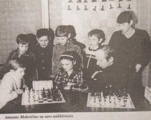 vaikus treniruoja Antanas Molevičius