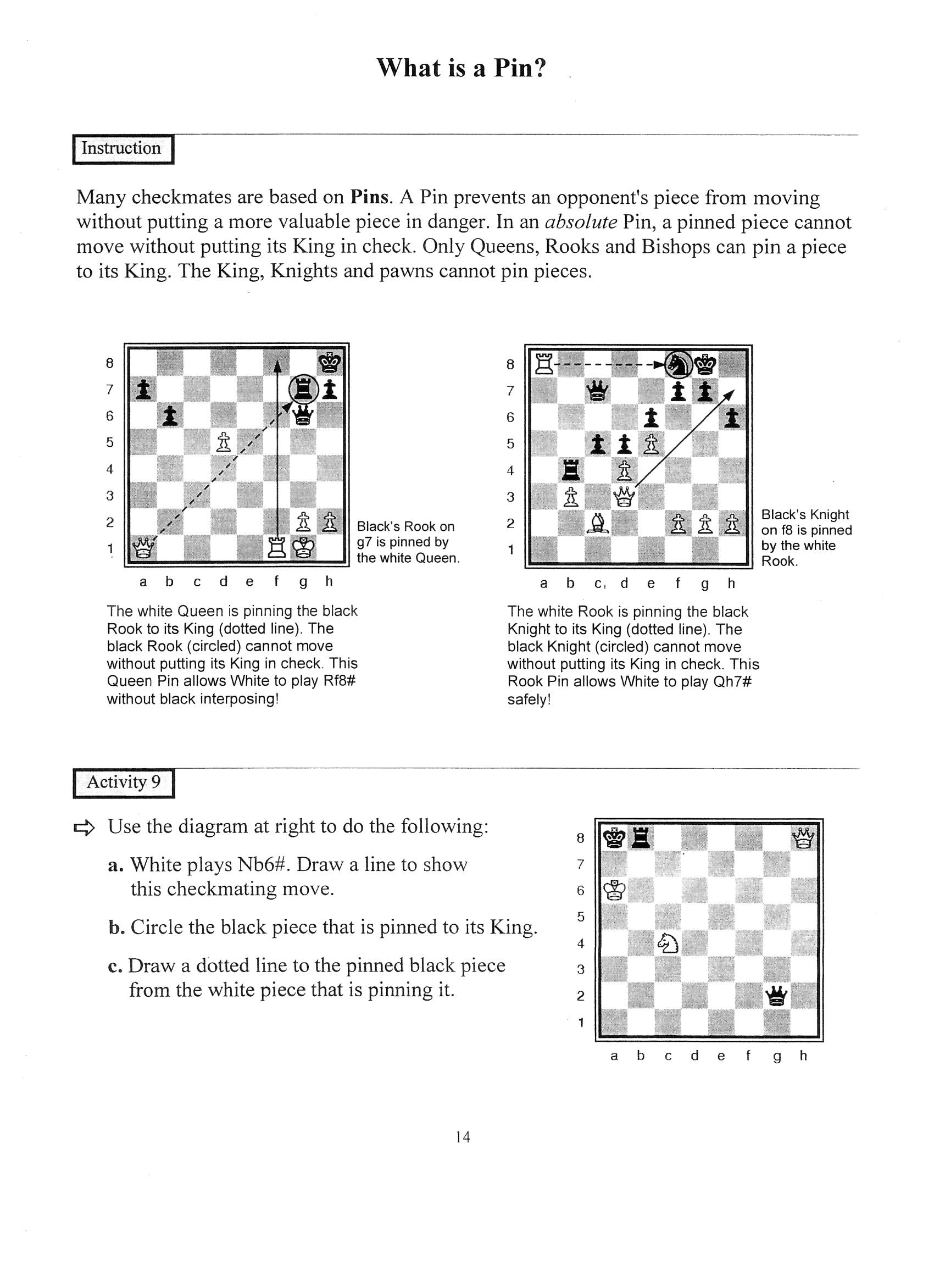 Chess Worksheets For Students