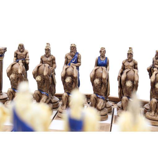 ARMA 陶器のチェスセット アトラス 31cm 青 10