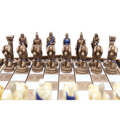 ARMA 陶器のチェスセット アトラス 31cm 青 11