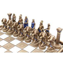 ARMA 陶器のチェスセット アトラス 31cm 青 5