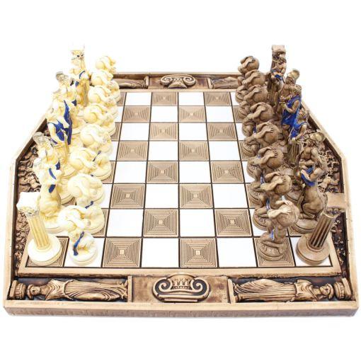 ARMA 陶器のチェスセット アトラス 31cm 青 6