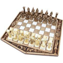 ARMA 陶器のチェスセット アトラス 31cm 金 10