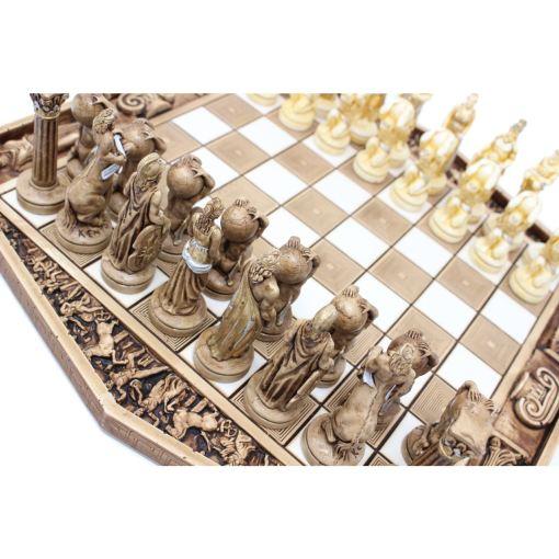 ARMA 陶器のチェスセット アトラス 31cm 金 2