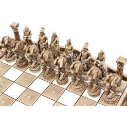 ARMA 陶器のチェスセット アトラス 31cm 金 8