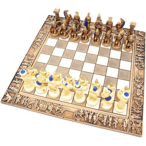 ARMA 陶器のチェスセット レオニダス 31cm 青 1