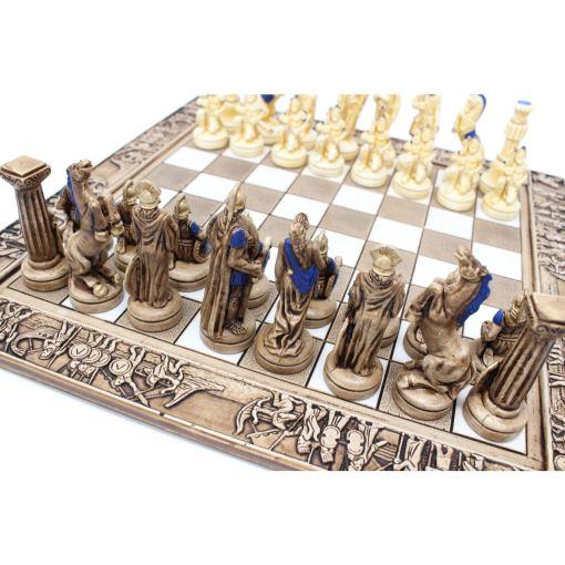 ARMA 陶器のチェスセット レオニダス 31cm 青 10