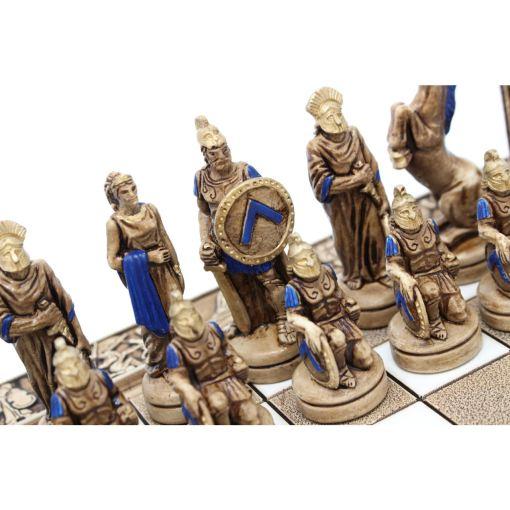ARMA 陶器のチェスセット レオニダス 31cm 青 12