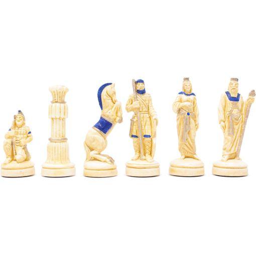 ARMA 陶器のチェスセット レオニダス 31cm 青 14