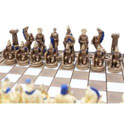 ARMA 陶器のチェスセット レオニダス 31cm 青 3