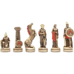 ARMA 陶器のチェスセット レオニダス 31cm 赤 14