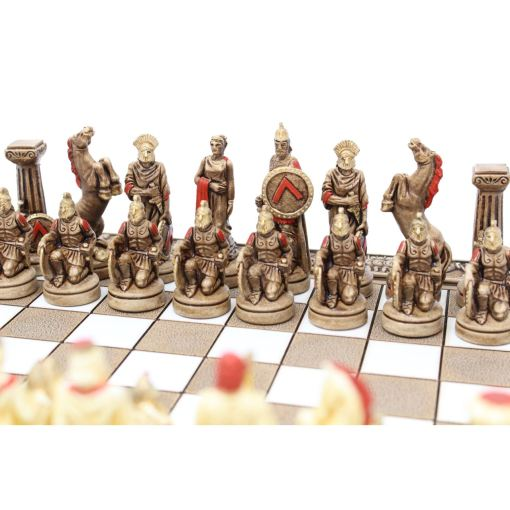 ARMA 陶器のチェスセット レオニダス 31cm 赤 3