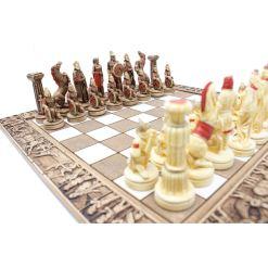 ARMA 陶器のチェスセット レオニダス 31cm 赤 7