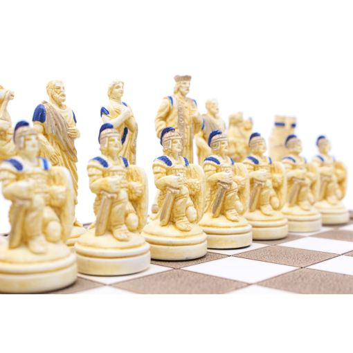 ARMA 陶器のチェスセット トロイア戦争 31cm 青 7