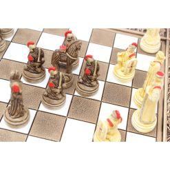 ARMA 陶器のチェスセット トロイア戦争 31cm 赤 14
