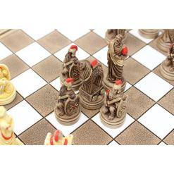 ARMA 陶器のチェスセット トロイア戦争 31cm 赤 15