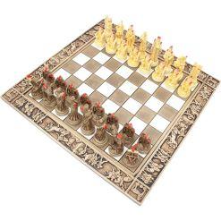 ARMA 陶器のチェスセット トロイア戦争 31cm 赤 9