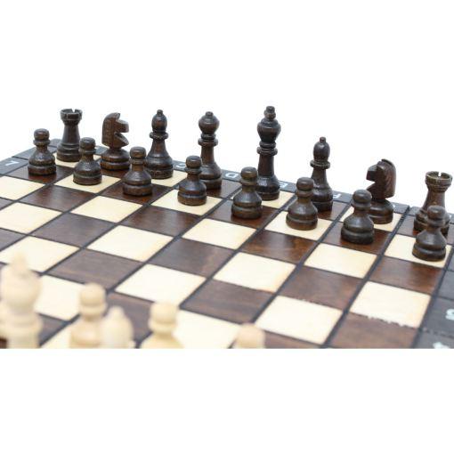 木製ゲームセット チェス/バックギャモン/チェッカー 27cm 6