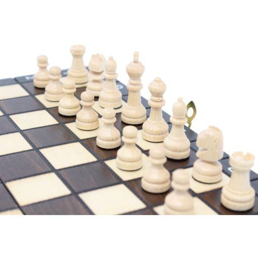 木製ゲームセット チェス/バックギャモン/チェッカー 27cm 8