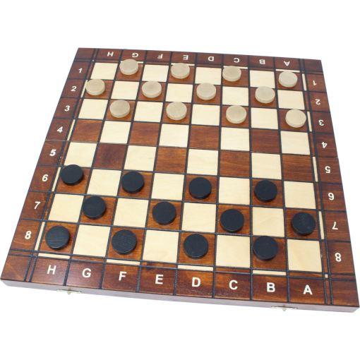 Wegiel 木製ゲームセット チェス/バックギャモン/チェッカー 41cm 16