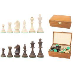 Wegiel チェス駒 トーナメント No.6 収納木箱付き 1