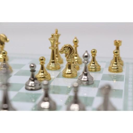 Italfama ガラス製チェスセット 金属製チェス駒 14