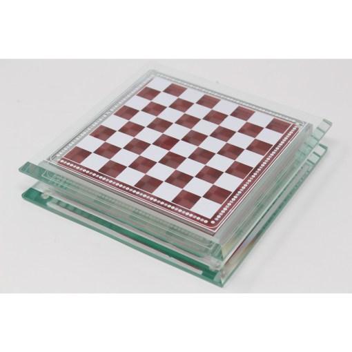 Italfama ガラス製チェスセット 金属製チェス駒 23