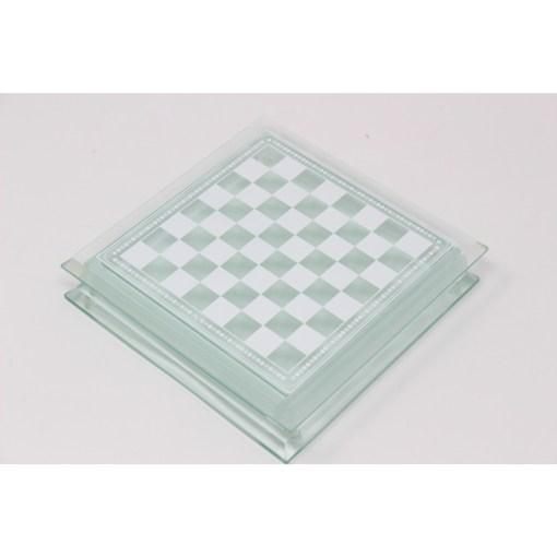 Italfama ガラス製チェスセット 金属製チェス駒 24