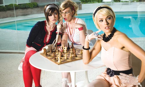 Ditsy Chess Girls