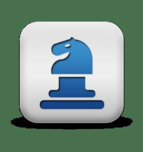 Blue Knight Icon Square
