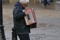 Chesterfield Market Place Wheel Busker