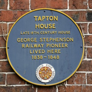 Tapton House Chesterfield George Stephenson Plaque