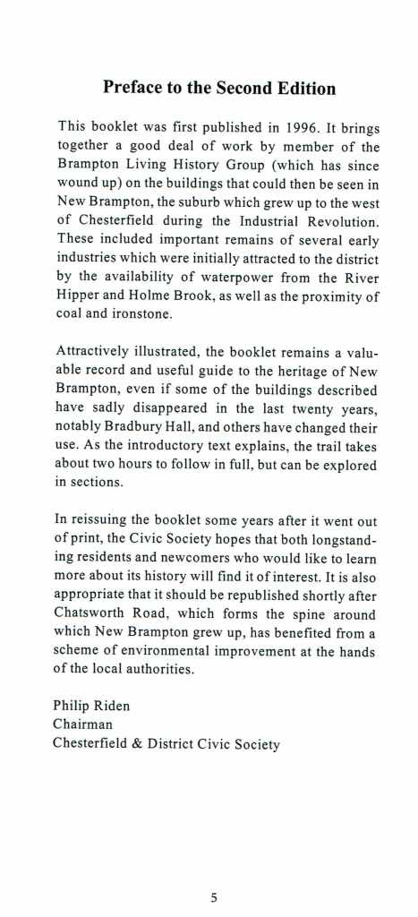 Brampton Trail 2nd Edition Preface
