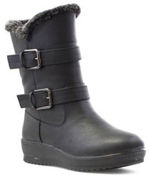 Softlites Womens Black Warm Lined Calf Boot