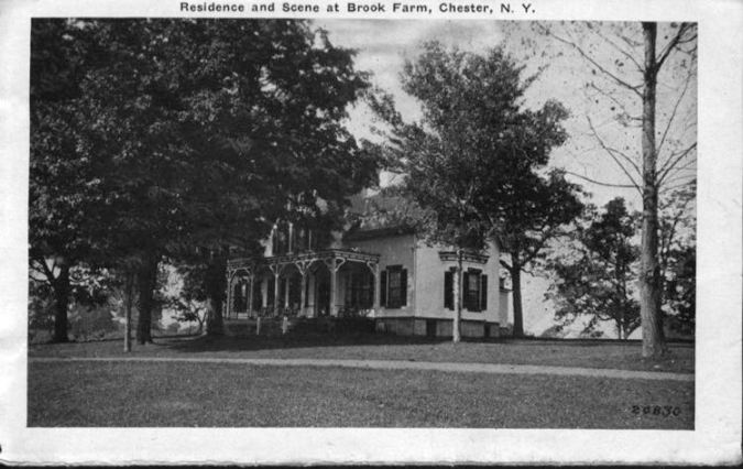 Homes   Chester Historical Society Edmund Butler residence and scene at Brook Farm  Circa 1926  chs 002297