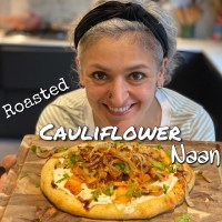 Roasted Cauliflower Naan