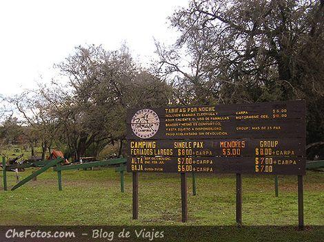 Area de Camping en el Parque Nacional
