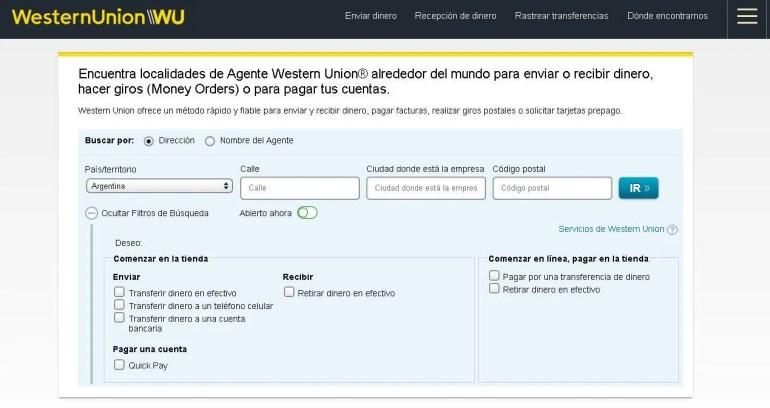western union argentina sucursales