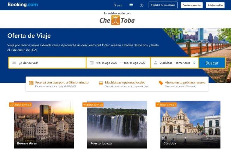 Booking.com descuento Che Toba