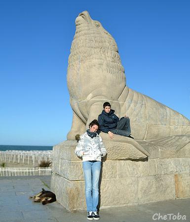 Foto con el Lobo Marino