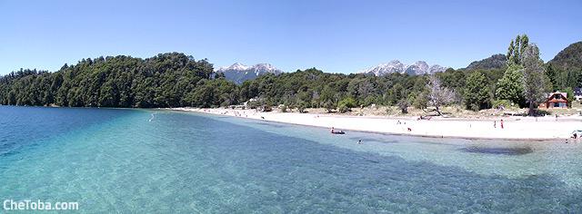 Panoramica playa lago Espejo
