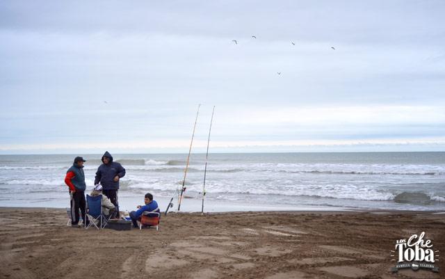Pesca en el río desembocadura Monte Hermoso