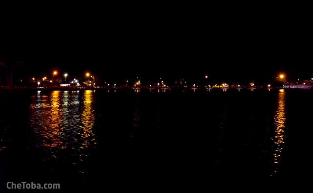 Costanera Villa María de noche