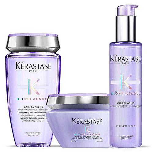 Soins des cheveux avec la gamme capillaire Kérastase Blond Absolu Kérastase