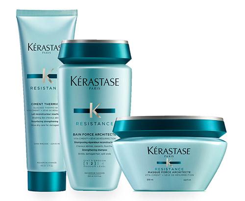 Soins des cheveux avec la gamme capillaire Kérastase Résistance Kérastase